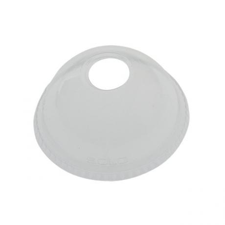 Solo DL626 Clear Plastic Dome Lid with straw hole