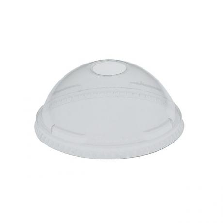 Solo DL662 Clear Plastic Dome lids with straw hole